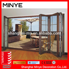 Alibaba china manufacture french factory price upvc folding door on China WDMA