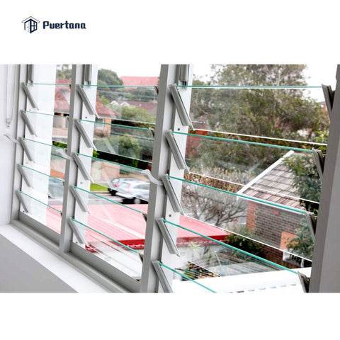 Aluminium Fixed Panel Glass Jalousie Single Pane Metal Window Louver Shutter In The Philippines Price on China WDMA