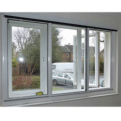 Aluminium Frame Powder Coating Aluminum Sliding Window with Tempered Glass on China WDMA