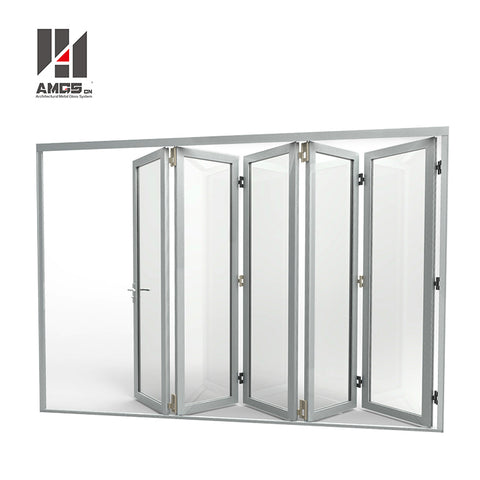 Aluminium Home Hotel Commercial Panel s Special Bullet Proof Design Gate, Aluminum Entrance Bifold Tempered Glass Folding Door on China WDMA