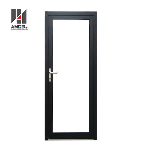 Aluminium Metal Standard s Durable, Modern House Aluminum Frame Frosted Tempered Glass Hinge Casement Swing Door on China WDMA