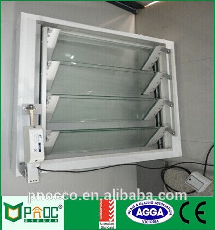 Aluminium Window Louver With Glass With Cheap Price PNOC006GLW on China WDMA
