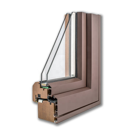 Aluminium Wood Soundproof Double or Fixed Glass Commercial Windows on China WDMA