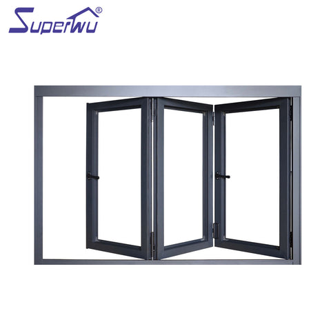 Aluminium alloy AU & NZ standard impact resistant reflective glass cheap price bifold windows on China WDMA