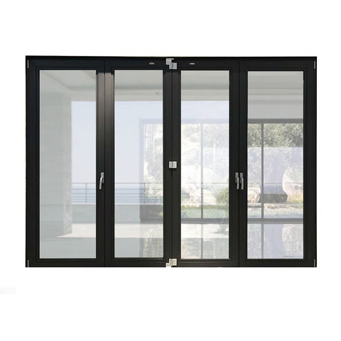 Aluminium commercial hurricane resistant sliding bi folding glass doors China factory price on China WDMA
