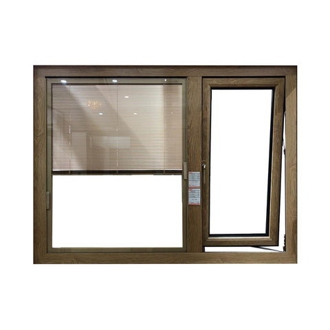 Aluminium double glazed top hung window with built in blinds on China WDMA