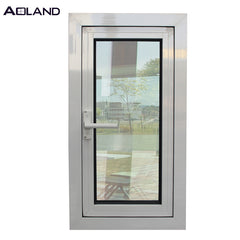 Aluminium double glazing casement windows with german brand on China WDMA