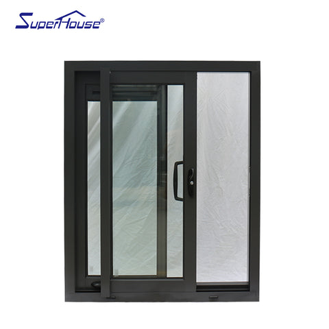 Aluminium frame customized Philippines glass sliding windows for commercial on China WDMA