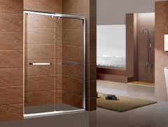 Aluminium framed tempered glass sliding shower door with roller on China WDMA
