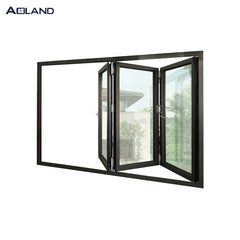 Aluminium hurricane impact bi-folding entyry doors with fluorocarbon coating on China WDMA