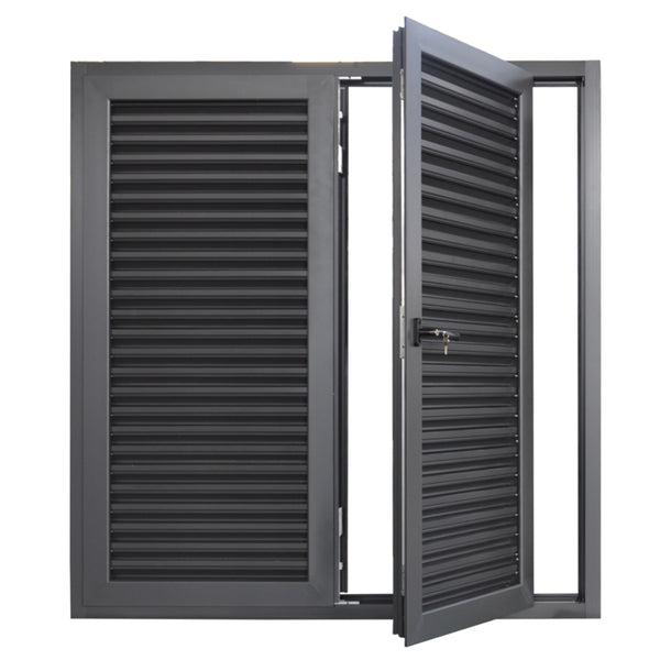 Aluminium louver blade shutter window/louver window with exhaust fan on China WDMA