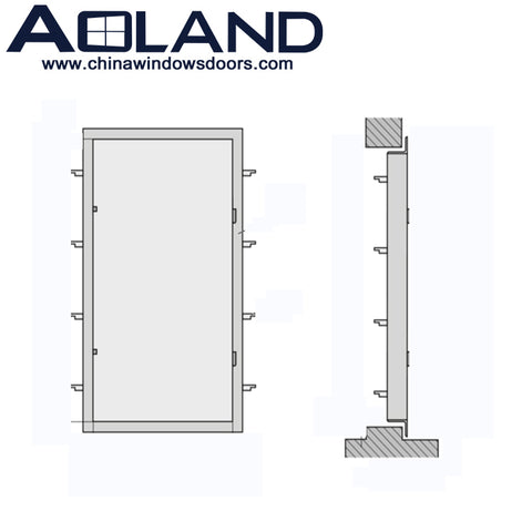 Aluminium patio entry sliding doors manufacturers with double glass for sale on China WDMA
