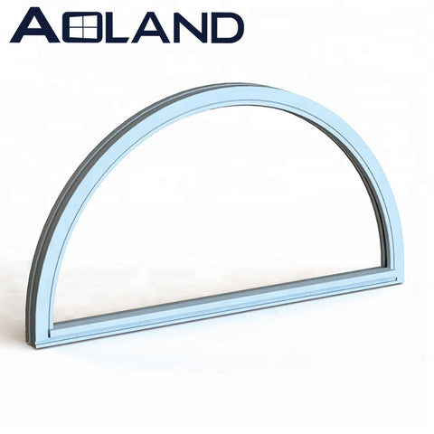 Aluminium semicircular arch fixed tempered glass windows for sale on China WDMA