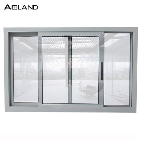 Aluminium sliding glass house window with security flyscreen design on China WDMA