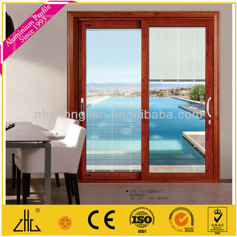 Aluminium window with electrical blind for house/sliding door electric blind for villa,apartment/factory supplier/manufacturer