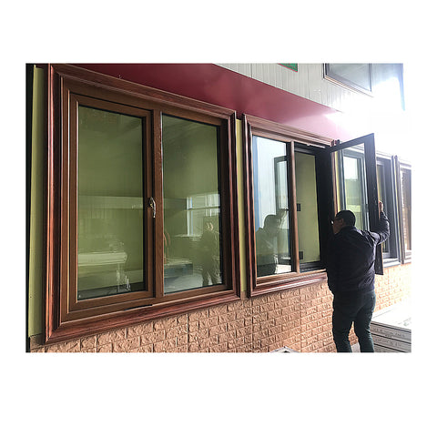 Aluminium windows awning windows with roller shutter window design on China WDMA