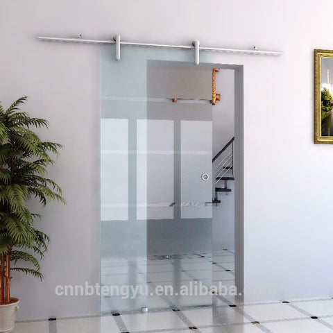 Aluminum 1 Rail Wall Mount Interior Sliding Closet Door Aluminum Barn Door Round Track Kit on China WDMA