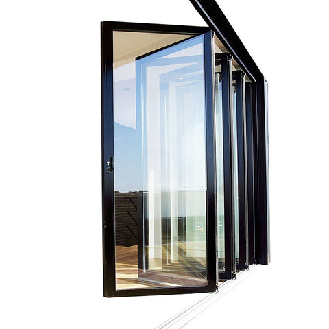 Aluminum Bifold Glass Door windows with shutter on China WDMA