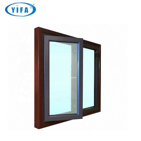 Aluminum Casement Window Parts With Arched On Top