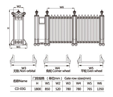 Aluminum Electric Retractable Collapsible Gate Auto Residential Door on China WDMA