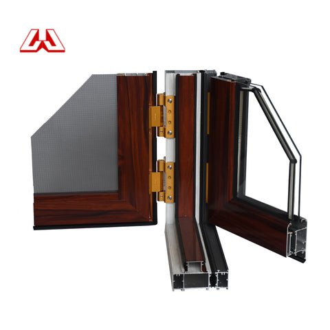 Aluminum Energy Efficient Office Safe Aluminium Frame Sliding Glass Window With Blinds Inside on China WDMA