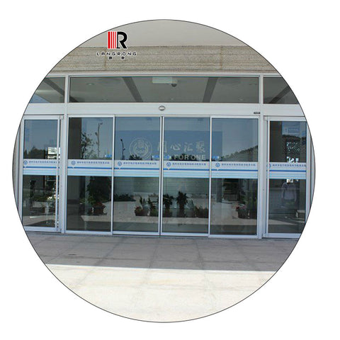 Aluminum Frame Automatic Sliding Door Profile For Hotel, Airport, Hopital,Shopping Malls, commercial and residential buildings on China WDMA