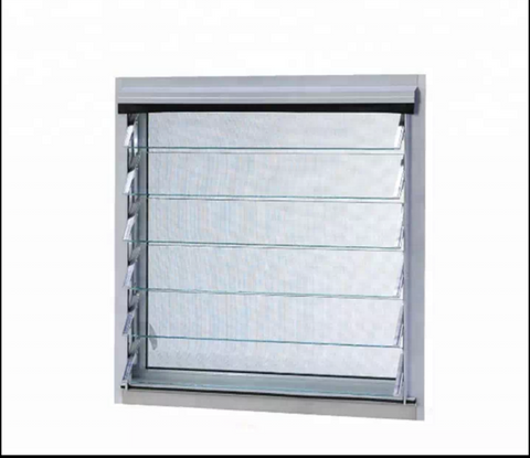 Aluminum Frame Glass Moveable Louvers Jalousie Window With Single Glass And American Hardware on China WDMA