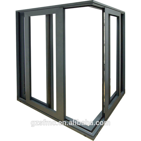 Aluminum French style spring exterior doors design for commercial on China WDMA