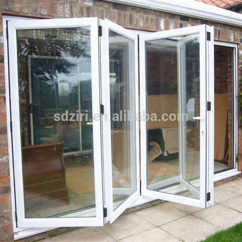 Aluminum Glass Patio Exterior Bifold Doors Double Glazing aluminum sliding door on China WDMA