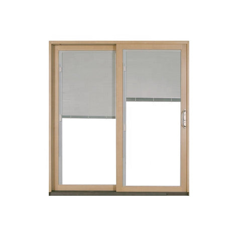 Aluminum Glass Sliding Patio Door with Blinds Inside on China WDMA