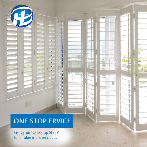 Aluminum Jalousie Window External Plantation Shutter German White Aluminium Window Shutters on China WDMA