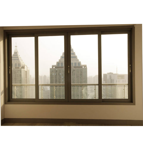 Aluminum Ordinary profile frame Double tempered glass sliding Window for home and office on China WDMA