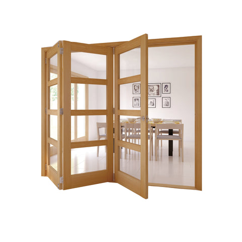 Aluminum Patio Balcony Double Glazed Side Opening Exterior Accordion Folding Door With Grill on China WDMA