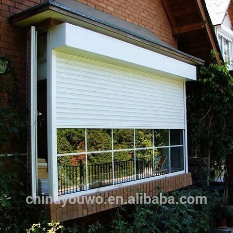 Aluminum Profile Sliding Windows Roller Shutter Exterior Window rolling up Window on China WDMA