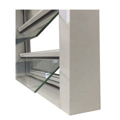 Aluminum Security Shutter Insulated Glass Louvre Windows Blinds on China WDMA