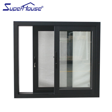 Aluminum Slider Window with double tempered glazed on China WDMA