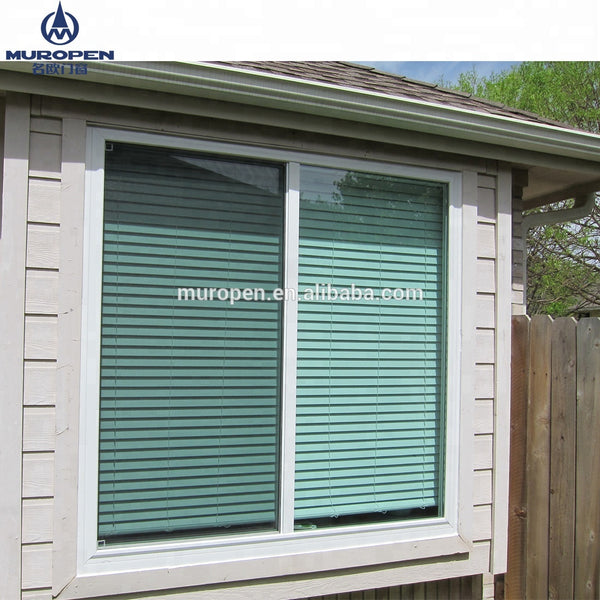 Aluminum Sliding Window, double tempered glass, powder coating finish, inside automatic blinds, shutters,louver on China WDMA