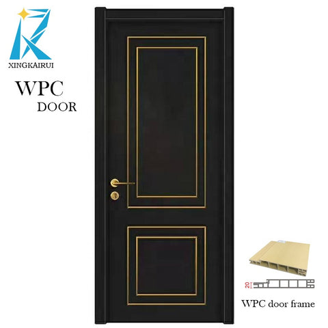 Aluminum alloy Decorative line wpc solid wood bedroom door on China WDMA