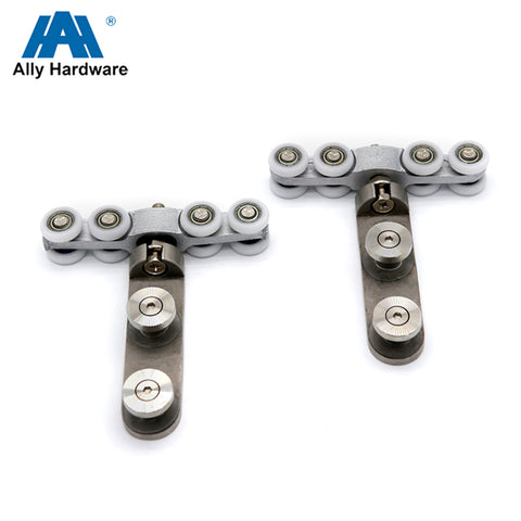 Aluminum alloy body sliding barn door rollers and track for moving glass gate on China WDMA