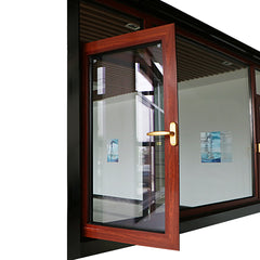 Aluminum alloy double casement sash hollow glass window price philippines on China WDMA