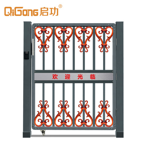 Aluminum alloy main door use in the company entrance gate with electric lock system QG-C1704 on China WDMA