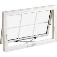 Aluminum chain winder awning window with aluminum reveal installation on China WDMA