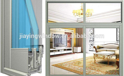 Aluminum double hung windows/aluminum fixed window with grill design on China WDMA
