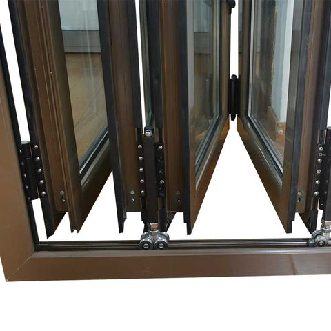 Aluminum folding window for sale Double glazed aluminum accordion windows on China WDMA