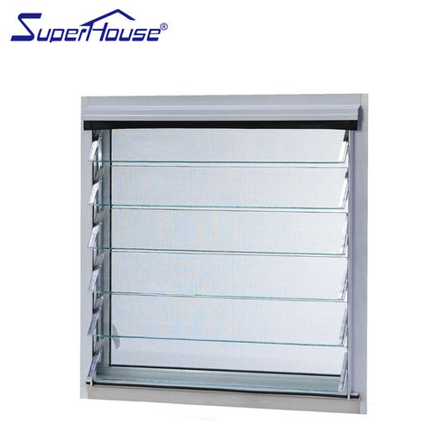 Aluminum frame glass blade louvre window price of glass jalousie on China WDMA