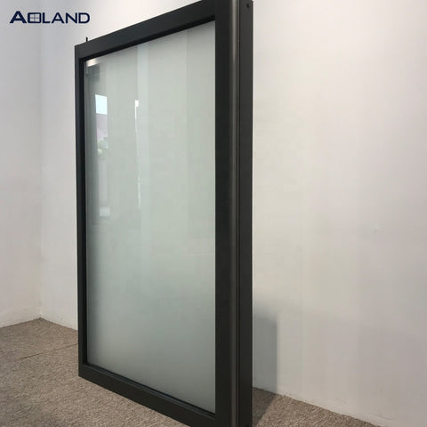 Aluminum frosted glass fixed windows and doors manufacturer on China WDMA