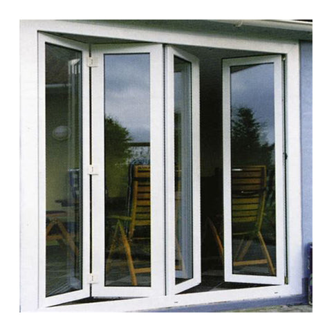Aluminum patio/balcony double glass exterior accordion folding door on China WDMA