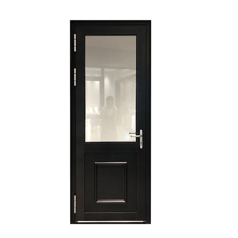 Aluminum plate glass french door design with invisible door closer on China WDMA