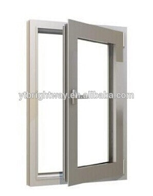 Aluminum profile casement window, various glasses for option, like low-E, reflective, lamilated,etc on China WDMA