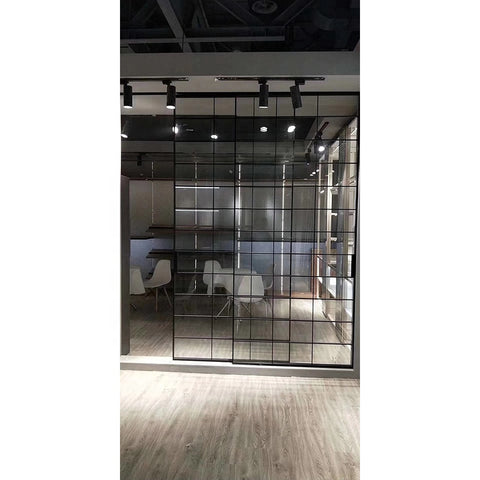 Aluminum profile framed slide door set 3 panel grill single glass sliding patio door price on China WDMA